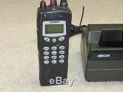Ma-com Harris P7100 ip 2 way radio with Desktop Charger MACOM no battery