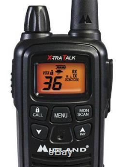 Midland LXT600VP3 Two Way Radio / Walkie Talkie 4 Pack Up To 30 Mile Range New