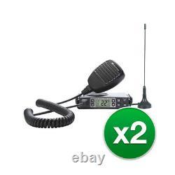 Midland MXT105 15 Ch, Microphone, Backlit LCD Display GMRS Two-Way Radio-2 Radio