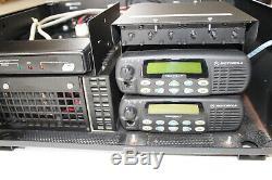 Motorola GR500 CDM1550 LS+ CDR700 UHF Repeater w Duplexer 403-470 Mhz