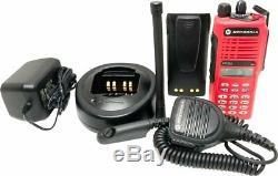 Motorola HT1250 VHF Professional Radio 136-174MHz 128-Ch FullKey MDC DualScan 5w