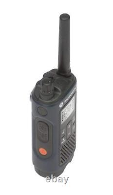 Motorola T460 Two-Way Radio/Walkie Talkie 4 Pack with Curl Earpieces