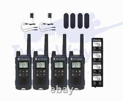 Motorola TALKABOUT T460 Two Way Radio 22 Ch Walkie Talkie push to talk 4-PACK