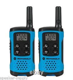 Motorola Talkabout T100 Walkie Talkie 10 Pack Set 16 Mile Two Way Radios Blue
