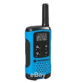 Motorola Talkabout T100 Walkie Talkie 4 Pack Set 16 Mile Two Way Radios Blue New