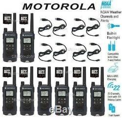 Motorola Talkabout T460 Walkie Talkie Two Way Radio 8 Pack Set 35 Mile New