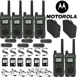 Motorola Talkabout T465 Walkie Talkie 6 Pack 35 Mile Two Way Radio(Case+Earbuds)