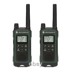 Motorola Talkabout T465 Walkie Talkie Set 35 Mile Two Way Radio (Earbuds+Case)