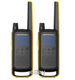 Motorola Talkabout T475 Extreme Two-Way Radio, 35 Mile, 2 Pack, Black & Yellow