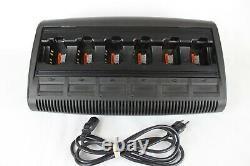 Motorola WPLN4197 IMPRESS 6-Bank Gang Charger, HT750,1250, PR860, EX500, 600