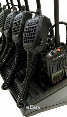 Motorola XTS 5000 VHF P25 9600 Digital Radio Commander 2 + IMPRES Bank Charger