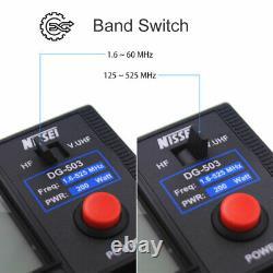 NISSEI DG-503 1.8-525Mhz Digital SWR/WATT Meter for Two Way Radio