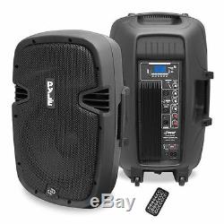 Pyle PPHP1237UB 12 900W Powered Two-Way Speaker MP3/USB/SD/ Bluetooth Music