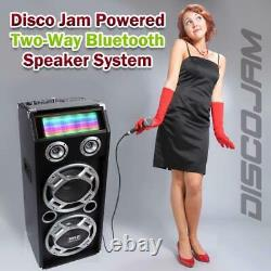 Pyle PSUFM1035A 1000 Watt Disco Jam Powered Two-Way Bluetooth Speaker System