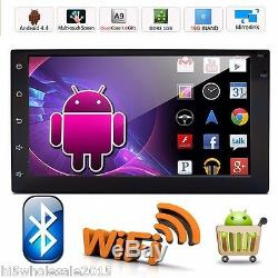 Quad Core Android 6.0 3G WIFI 7 Double 2DIN Car Radio Stereo Mp5 Player GPS Nav