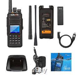 Radioddity GD-55 Plus 10W Waterproof DMR Two Way Radio UHF Cable Antenna Speaker