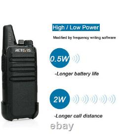 Retevis RT22 Two Way Radios Long Range UHF 2W VOX CTCSS/DCS Walkie Talkies (20X)
