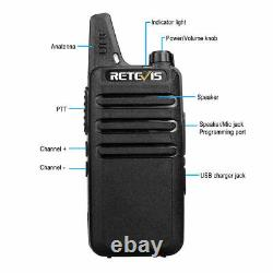 Retevis RT22 UHF Two Way Radio Long Range CTCSS&DCS 1000mAh Walkie Talkies (10X)