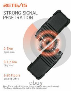 Retevis RT22 long range two way radios UHF 16CH 1000mAh Walkie Talkies(10X)/Accs