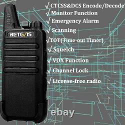 Retevis RT22 two way radios Long Range Walkie Talkies UHF Radio(6)+6-Way Charger
