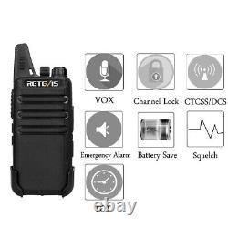 Retevis RT22 two way radios UHF Long Range 2W CTCSS/DCS VOX Walkie Talkies (8X)
