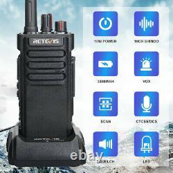 Retevis RT29 Two Way Radio Long Range UHF 10W 3200mAh Walkie Talkies (2Pack)+USB