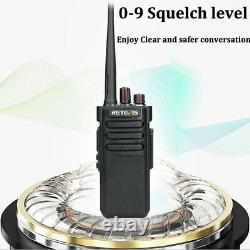 Retevis RT29 UHF 10W Longrange IP67 WalkieTalkies3200mah Two-Way Radio(2PCS)+USB