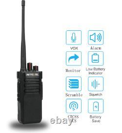 Retevis RT29 UHF Two-Way Radio Long Range 10W 3200mAh Walkie Talkie(2X)+USB
