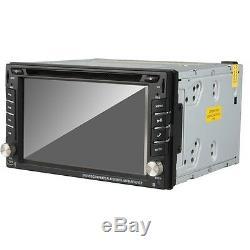 Reverse Camera+GPS 6.2 Double 2Din Car Stereo Radio DVD CD mp3 Player Bluetooth