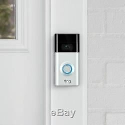 Ring 8VR1S7-0EU0 Video Doorbell 2 Built-in Wi-Fi & Camera1080P Two way Audio