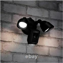 Ring Floodlight Camera Motion-Activated Two-Way Talk and Siren Alarm Black