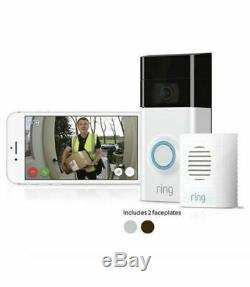 Ring Full HD 1080p Video Doorbell 2 with Chime Two-way Talk Motion Activated