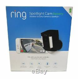Ring Spotlight Cam HD Security Camera with 1080p HD Video & Two-Way Audio, Black