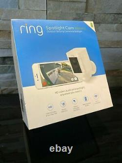 Ring Spotlight Cam Wire-free Battery HD Security Camera, Two-Way Talk SEALED