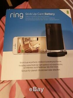 Ring Stick Up Cam Battery HD Security Camera with Two-Way Talk, Black, New
