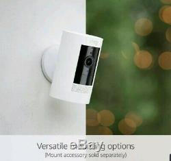 Ring Stick Up Cam Battery HD Security Camera with Two-Way Talk White NEW