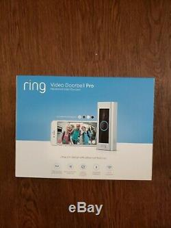 Ring Video Doorbell Pro night vision 1080p -Brand New two way audio ring pro