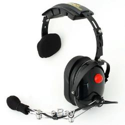 Rugged Pro OTH Over The Head Single Side One Ear Two Way Radio Headset Racing