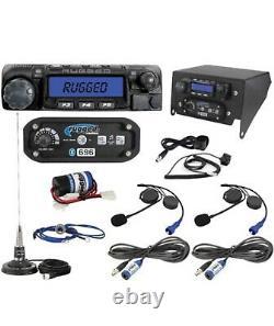Rugged Radios Complete Can-Am X3 UTV Two Way Radio Intercom System w Helmet Kits