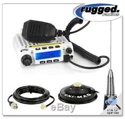 Rugged Radios RM60 60 Watt VHF Two Way Mobile Radio Kit UNI-MAG Mount & Antenna