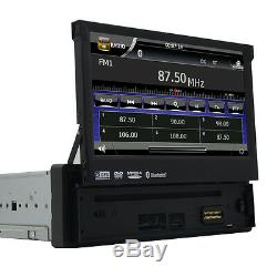 Single Din Universal Car Stereo 7 Inch DVD Player Bluetooth GPS Navigator Camera