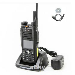 TYT MD-2017 Dual Band DMR Digital Two Way Radio MD2017 Walkie Talkie with Cable