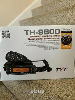 TYT TH-9800 50W Quad Band Two Way Radio
