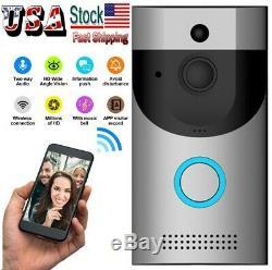 Two-Way Door Bell WiFi Wireless Video PIR Doorbell Talk Security Smart HD Camera