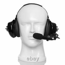 Two Way Radio Headphone with Noise Cancelling for Motorola HT1000 MT1500 MT2000