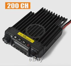 UHF 60W FM Car/Trunk Mobile Transceiver Two Way Radio + USB Cable Software 200CH