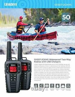 Uniden SX507-2CKHS Up to 50 Mile Range FRS Two-Way Radio Walkie Talkies WithDua