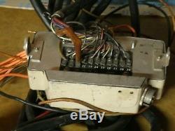 Vintage Motorola 2-way Motrac Low Band Mobile Radio Ctrl Head Mic Cable Tested
