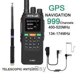 Walkie Talkie TC-898G 10W GPS VHF UHF Long Range Two Way Radio Ham Radio Antenna
