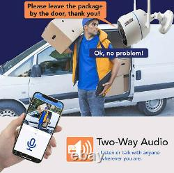 Wireless two way Audio Home Security 4CH 3MP HD 1296P CCTV Camera System DVR kit